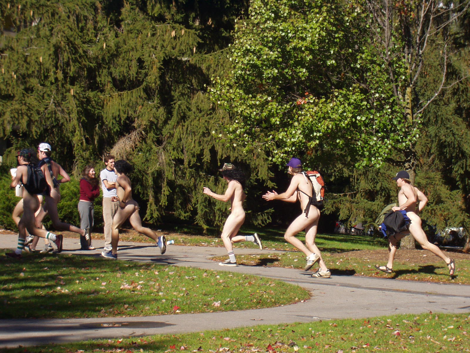 Pity, that Tufts student harvard naked mile runners